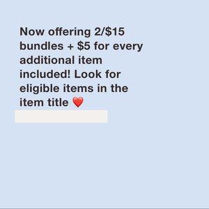 2/$15 Deals!!